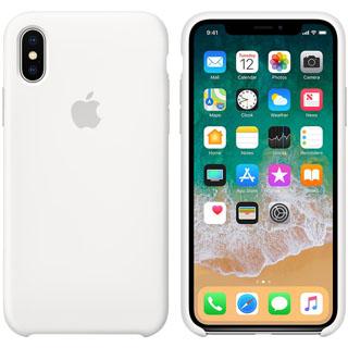 APPLE Silikónové púzdro pre iPhone X White