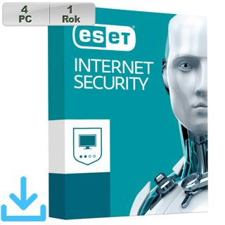 ESET Internet Security 2018 4PC na 1r El.lic