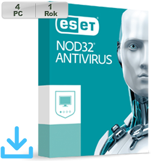 ESET NOD32 Antivirus 2019 4PC na 1r El.lic