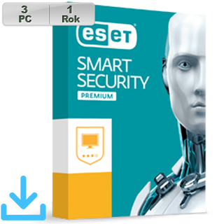 ESET Smart Security Premium 2018 3PC na 1r El. lic