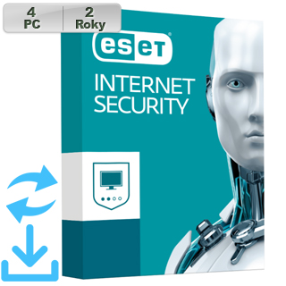 ESET Internet Security 2018 4PC na 2r Aktual