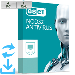 ESET NOD32 Antivirus 2019 4PC na 1r Aktual