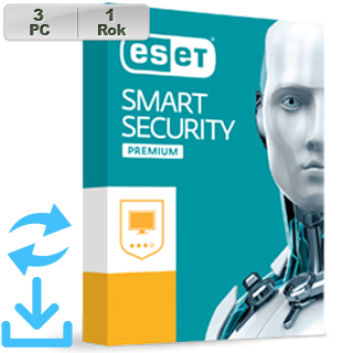 ESET Smart Security Premium 2019 3PC na 1r Aktual