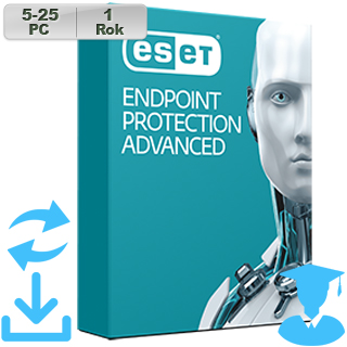 ESET Endpoint Prot Adv 2018 EDU 5-25PC na 1r Aktu