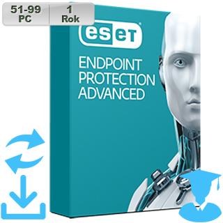 ESET Endpoint Prot Adv 2018 EDU 51-99PC na 1r Aktu