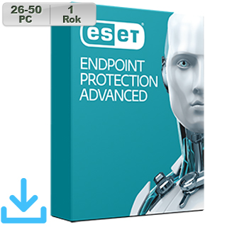 ESET Endpoint Prot Adv 2018 26-50PC na 1r