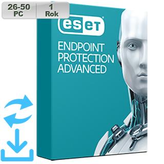 ESET Endpoint Prot Adv 2018 26-50PC na 1r Aktu