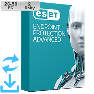 ESET Endpoint Prot Adv 2018 26-50PC na 2r Aktu