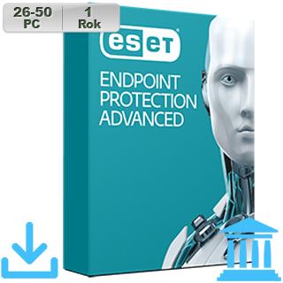 ESET Endpoint Prot Adv GOV 2018 26-50PC na 1r
