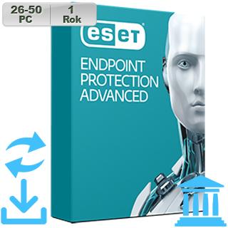 ESET Endpoint Prot Adv GOV 2018 26-50PC na 1r Aktu