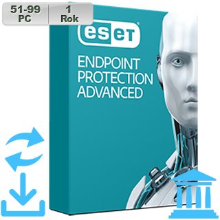 ESET Endpoint Prot Adv GOV 2018 51-99PC na 1r Aktu
