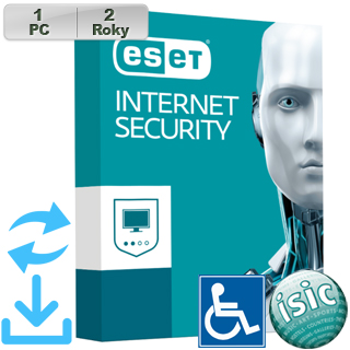 ESET Internet Security 2018 ZTP 1PC na 2r Aktu