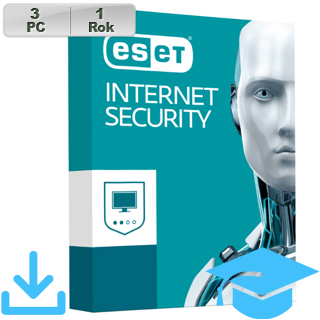 ESET Internet Security 2018 EDU 3PC na 1r