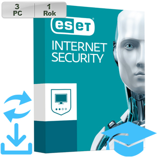 ESET Internet Security 2018 EDU 3PC na 1r Aktu
