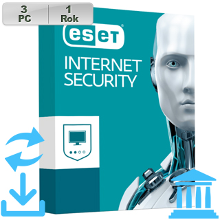 ESET Internet Security 2018 GOV 3PC na 1r Aktu