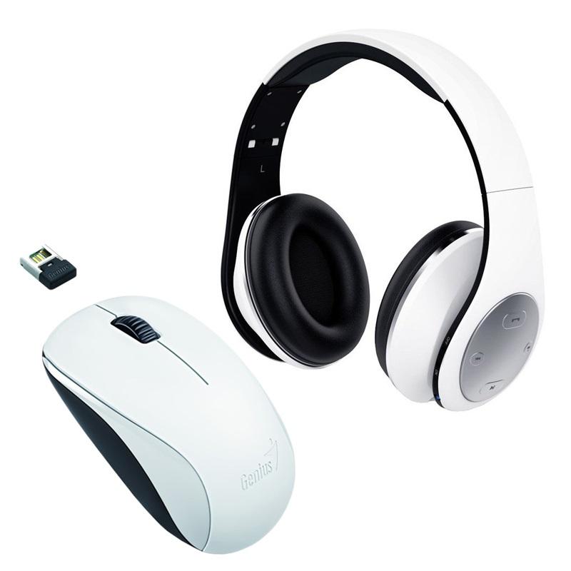 GENIUS - NX-7000 biela + sluchadla HS-935BT biele