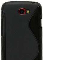OEM Ochranný kryt na HTC One S Black Wave +  fólia