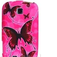 OEM Ochranný kryt pre Pink Butterfly na Samsung Ga