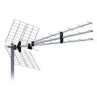 ISKRA DVB-T UHF anténa P-43N Triplex 9,5-15dBi
