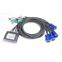ATEN CS64A-A7 KVM prepínač pre 4PC/VGA/PS2
