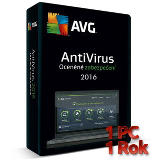 AVG Antivirus 2016 1 PC na 1 rok