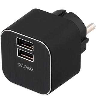 DELTACO 2x USB nabíjačka USB-AC71