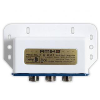 AMIKO DiSEqC prepínač D-201 2/1 Premium outdoor