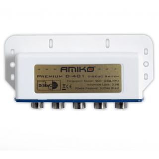 AMIKO DiSEqC prepínač D-401 - 4/1 Premium outdoor