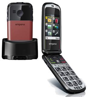 EMPORIA GLAM Telefón pre seniorov červený