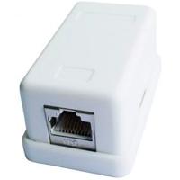 Zásuvka STP 1xRJ45 cat. 6 na omietku biela