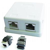 ETHERNET FTP zásuvka 2xRJ45 na omietku