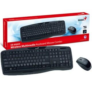 GENIUS - KB-8000X SK-CZ bezdrôtový set klávesnica+