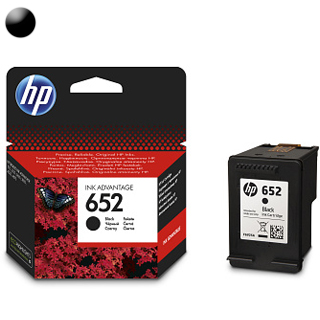 HP Cartridge HP 652 Black 6ml