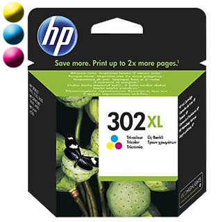 HP Cartridge HP 302XL Tri-co Cyan/Magenta/Yellow