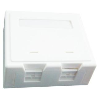 Zásuvka UTP 2xRJ45 na omietku biela