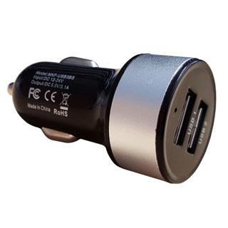 InHOUSE Auto USB Nabíjač MKF-USB3BS Black/Silver