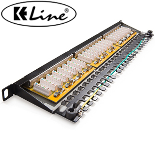KELINE Patch panel KOMPAKT HD, Category 5E, 24xRJ4