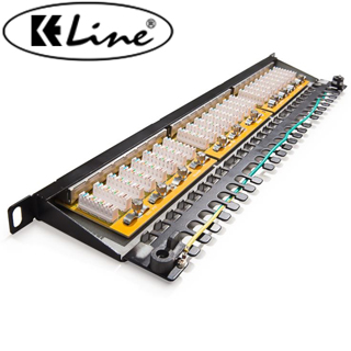 KELINE Patch panel KOMPAKT HD, Category 6, 24xRJ45