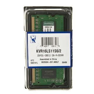 KINGSTON ValueRAM 2GB/DDR3L SO-DIMM/1600MHz/CL11/1