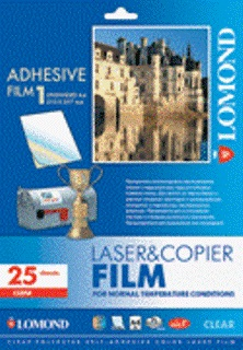 LOMOND PET film Laser A4/25 samolep. Clear matna