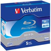 Verbatim BD-R DL 50GB 6x 5 Pack JC 43748