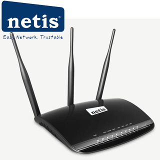 NETIS WF2533 Wifi N300 Router, 4x LAN, 3x 5dBi