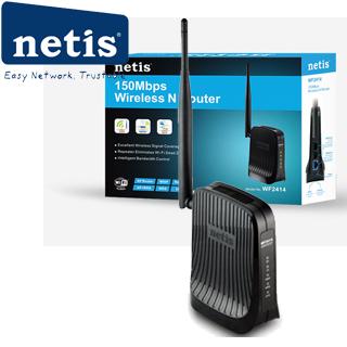 NETIS WF2414 wifi 150Mbps AP/router, 2xLAN, 1xWAN