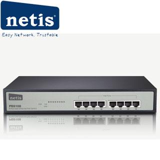 NETIS PE6108 8x LAN/8xPOE 10/100Mbps POE 8port swi