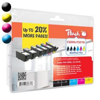 Cartridge Peach kom. pack CANON CLI-521XL PI100-88