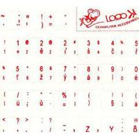 Nálepky na klávesnicu SK/CZ červené