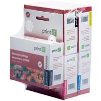 Cartridge PrintIT PGI-520Bk + CLI-521C/M/Y/Bk