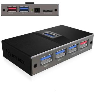 ICY BOX IB-AC617, 7 Port USB 3.0 Hub (2x rýchlo na