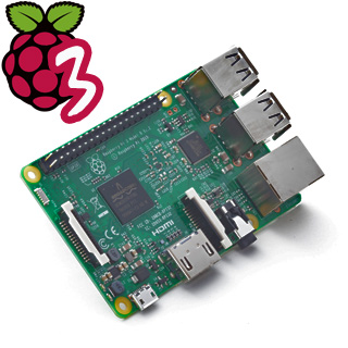 PC Raspberry Pi 3 Model B 1GB/WiFi/BT/100Mbps