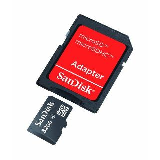 SanDisk Micro SDHC card 32GB CL4 + Adapter
